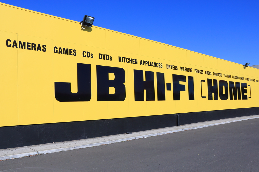 Jb hi-fi share price rise