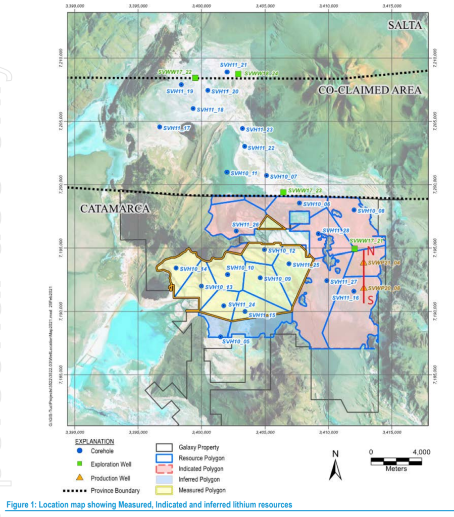 Galaxy Resources Drilling Map